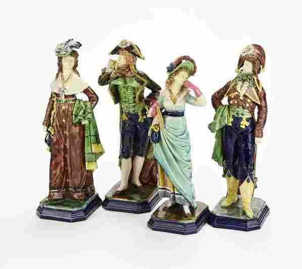 A Very Rare Hugo Lonitz Majolica Group of Figures