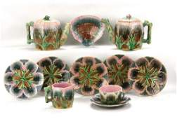 Etruscan majolica shell and seaweed lot of 12 pieces -