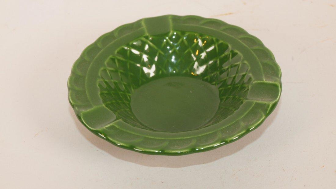 Fiesta Harlequin basket weave ashtray, dark green