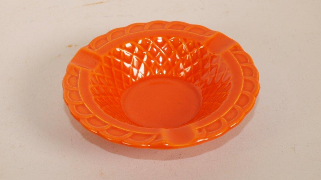 Fiesta Harlequin basket weave ashtray, red