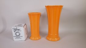 Fiesta Post 86 Tangerine Group: Mini Disk Pitcher, 8""