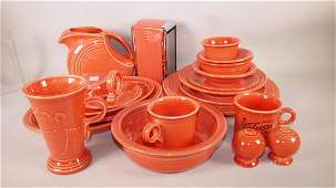 Fiesta Post 86 persimmon lot of 21 assorted pieces