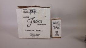 Fiesta Post 86 Serving Bowl And Salt & Pepper, Nib