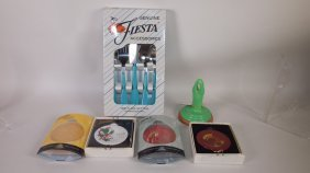 Fiesta Post 86 Group: Flatware Set, Cookie Press, And