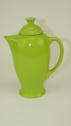 Fiesta Post 86 Rare Chartreuse Coffee Server Made