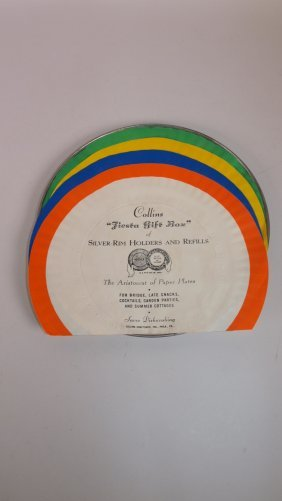 Fiesta Paper Plate Display With Metal Plate