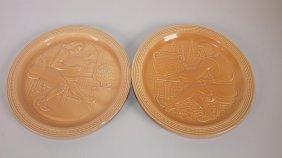 Fiesta Mocha Pair Of World's Fair Potter Plates