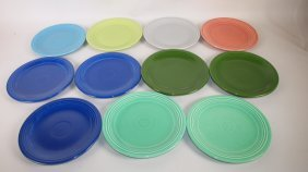 "Fiesta 7"" Plate Group: Lot Of 11 Assorted Colors"