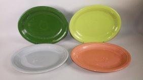 Fiesta Platter Group: Drak Green, Chartreuse, Gray,