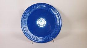 Fiesta Cake Plate, Cobalt, Rare