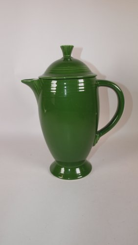 Fiesta Coffee Pot, Dark Green