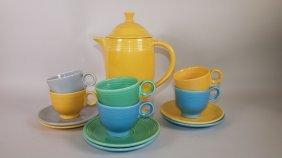 Fiesta Coffee Service: Yellow Coffee Pot, 6 Cups &
