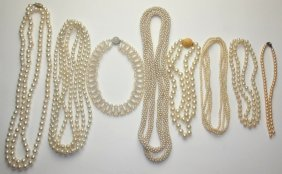 Lot Of 8 Pearl Necklaces