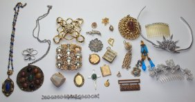 Lot Of Pendants, Buckles, Tiera & More