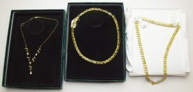 Suzanne Somers Lot Of 3 Cz Necklaces
