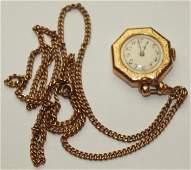 "Elgin 14K yellow gold 15j ""Lady Elgin"" pendant watch,"