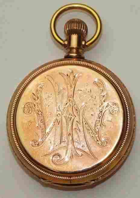 Elgin E.J. Willmer 14K yellow gold hunters case pocket