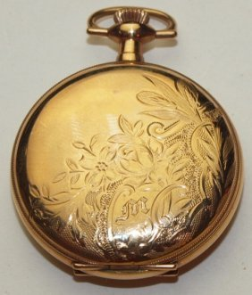 Elgin Hunters Case Pocket Watch, 3/0s