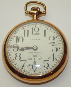 Illinois Bunn Special Railroad Pocket Watch, 21j, 6