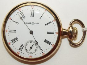 South Bend 7j, 16s, O.f. Pocket Watch With South Bend
