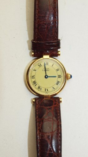 Cartier Vermeil Laides Wrist Watch