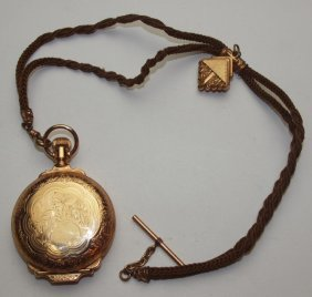 Illinois 18s Hunters Case Pocket Watch With Watch Chain