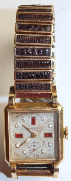 Canterbury 17j, Mens Wrist Watch With Diamonds & Rubies