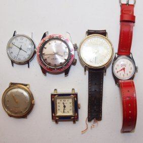 Lot Of 6 Watches: Mickey Mouse, Citizen, Pen Cron,