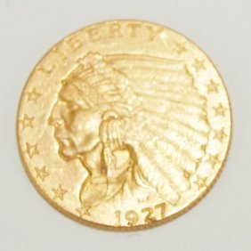 1927 $2 1/2 Indian Gold Piece