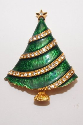 Eisenberg Christmas Tree Brooch