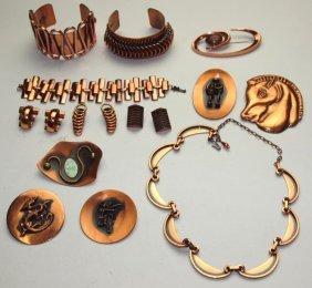 Copper Lotof Jewelry Including Renoir