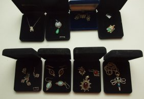 Sterling Silver Lot Of Pendants, Necklaces, & Earrings