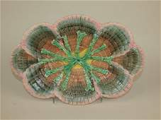 Etruscan Majolica shell  seaweed platter rim nicks to