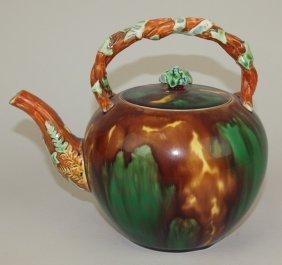 """Wedgwood Mottled Tea Kettle, 7 1/2"""""""