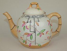 "Brownhills Pottery Majolica Teapot, 6 1/4"""