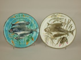 Wedgwood Majolica Turquoise And Argenta Triple Fish