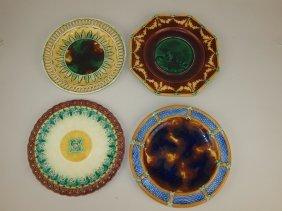 Wedgwood Majolica Lot Of 4 Plates