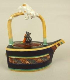 "Royal Doulton Minton Archives Flat Iron Teapot, 8"""