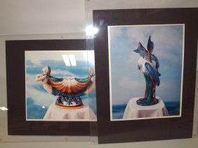 Minton Majolica Lot Of 2 Photographs