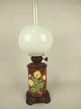 Majolica Oil Lamp