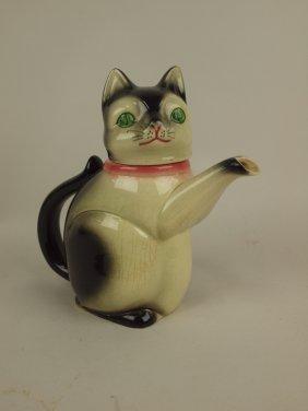 Erphila German Figural Cat Teapot
