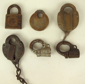 Lot Of 6 Railroad Padlocks