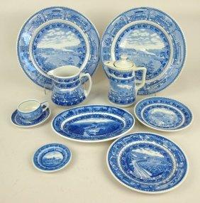 Railroad Dining China: B&o Blue & White Lamberton And
