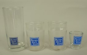 Nickel Plate Road Lot Of 4 Glass Glasses