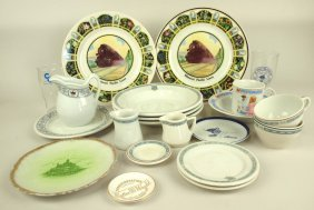 Railroad Dining Car China Lot Of 21 Assorted Pieces: