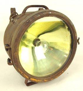 "Golden Glow T128 Railroad Headlight, 13""d"