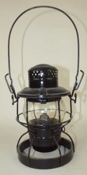 Adlake Railroad Lantern With Clear Globe, Weighted Base