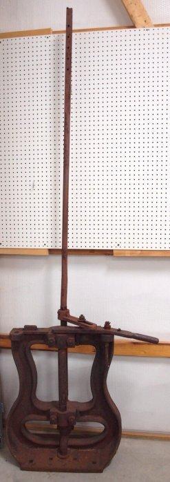 "Iron Railroad Track Switch, 8'4"""