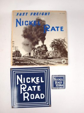 Nickel Plate Road Lp Album Contemporary Porcelain Sign