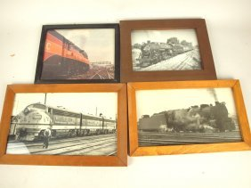 Lot Of 4 Railroad Photographs